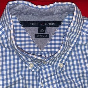 Tommy Hilfiger classic fit button down plaid
